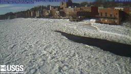 Latest image from the web camera near USGS 01049320 Kennebec River at Calumet Bridge at Augusta, Maine