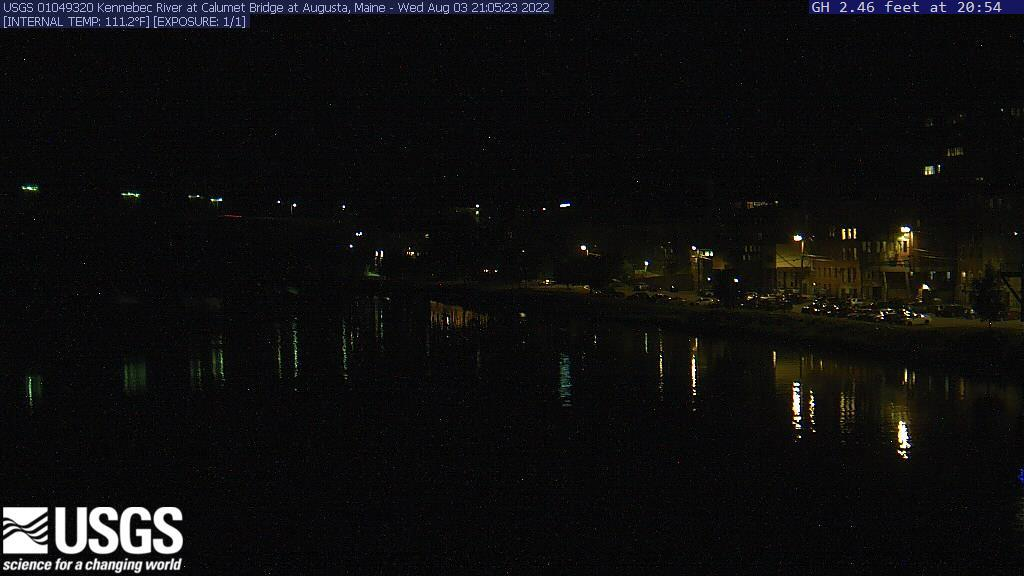 Recent image of the Kennebec River in downtown Augusta