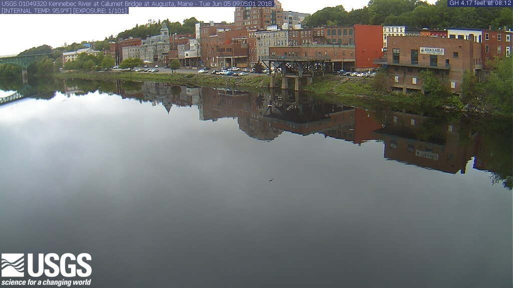 Kennebec River at Calumet Bridge at Augusta, ME