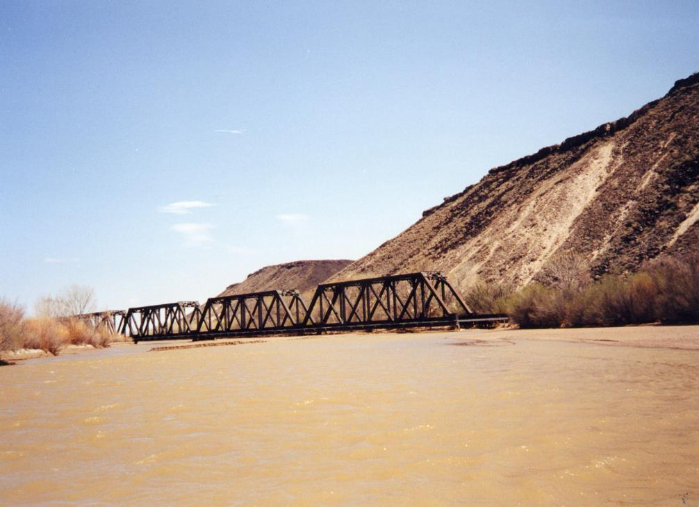 Picture of flooding on the Rio Grande River, New Mexico.